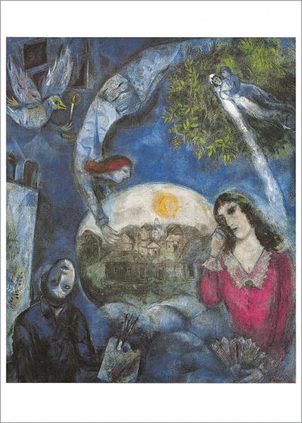 Kunstdruck um sie herum, Marc Chagall