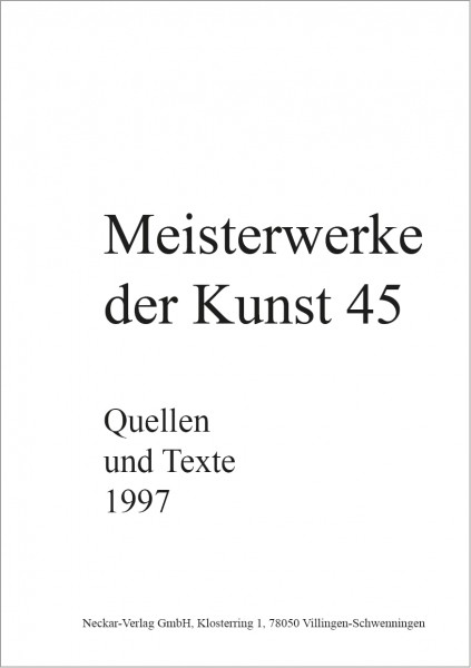 Quellen und Texte 45/1997