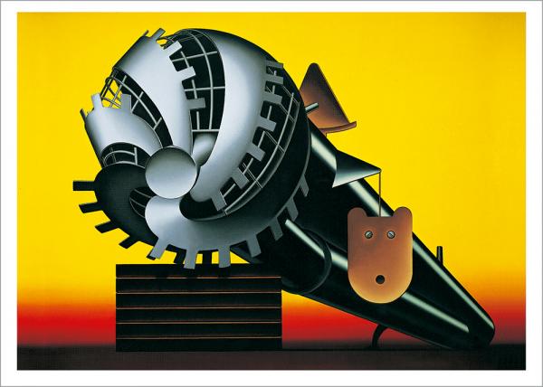 Kunstdruck Klapheck - Die Welt des Mannes