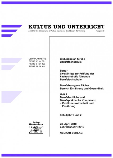 LPH 1/2010 - Hauswirtschaft und Ernährung