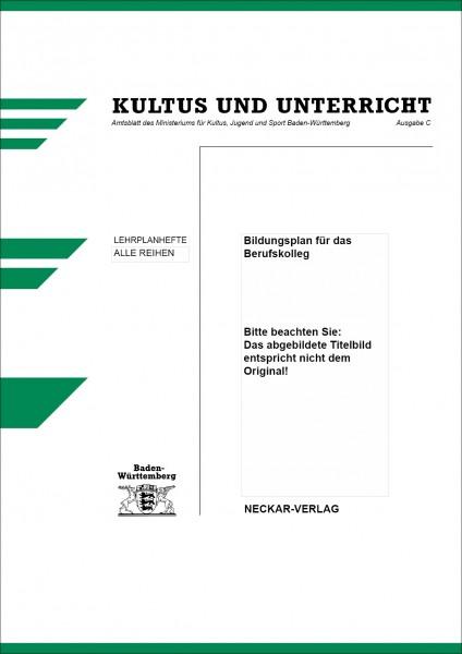 LPH 11/2000 - Bildungsplan für das Berufskolleg