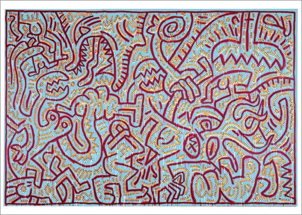 Kunstdruck Haring - Untitled
