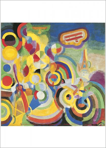 Kunstdruck Robert Delaunay: Hommage à Blériot