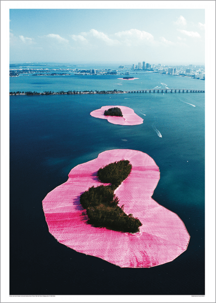 Kunstdruck Sourrounded islands, Miami, Florida