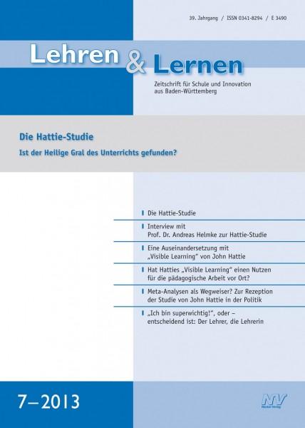 Lehren & Lernen 7/2013 Die Hattie-Studie