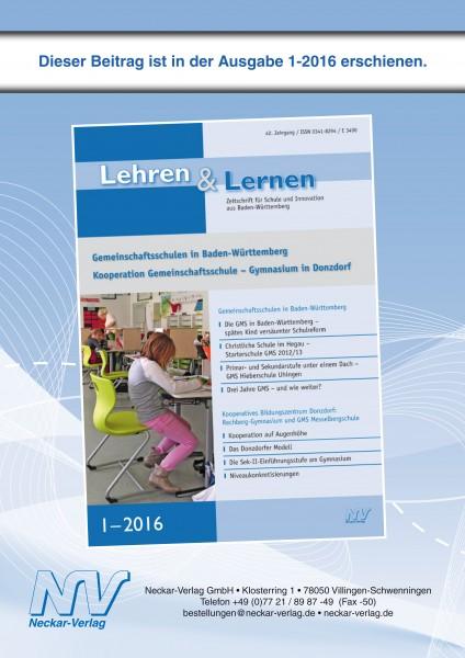 Christliche Schule im Hegau – Starterschule Gemeinschaftsschule 2012/13