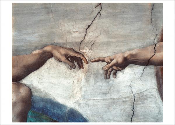 Kunstdruck Michelangelo - Die Erschaffung Adams