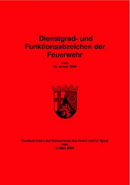 Dienstgrad- und Funktionsabzeichen der Feuerwehr