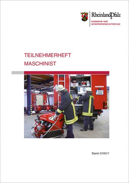 """Teilnehmerheft """"Maschinist"""" Rheinland-Pfalz"""