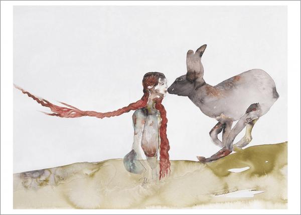 Kunstdruck Schleime - Tierische Liebe