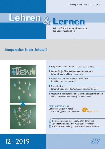 Pädagogik-Zeitschrift Lehren & Lernen 12/2019