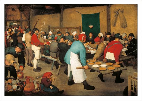 Kunstdruck Bruegel d. Ä., Bauernhochzeit