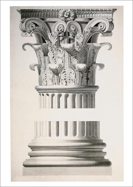 Kunstdruck Gärtner - Studienblatt: Säulenkapitell