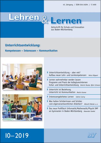 Lehren & Lernen 10/2019