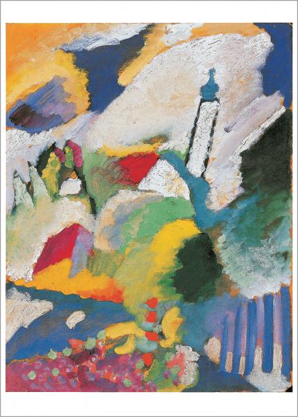 Kunstdruck Wasily - Murnau mit Kirche I