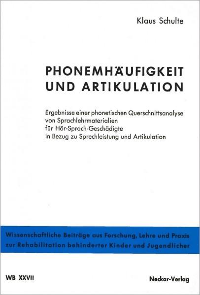 WB XXVII: Phonemhäufigkeit und Artikulation