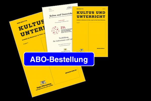 """Jahresabonnement """"Kultus und Unterricht"""" Ausgabe A -"""
