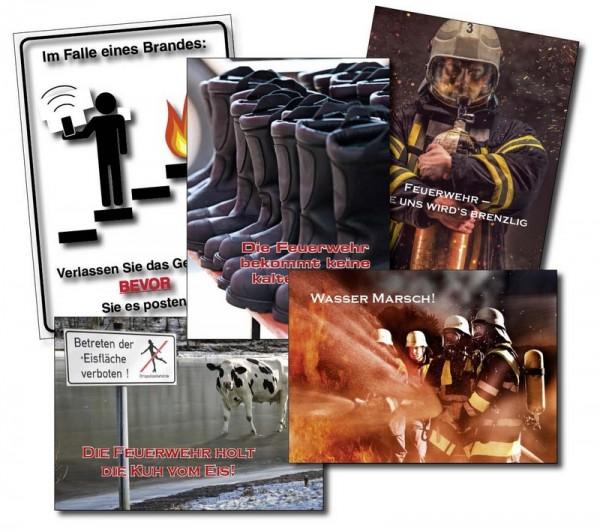 Postkarten-Set Feuerwehr