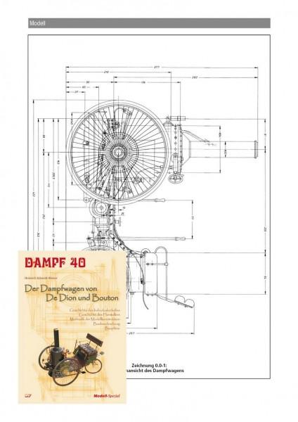 Bauplan Der Dampfwagen von De Dion und Bouton