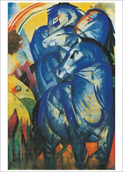 Kunstdruck Marc - der Turm der blauen Pferde