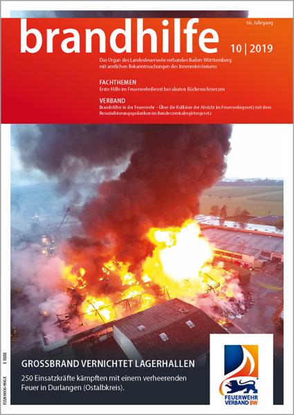 Brandhilfe Baden-Württemberg 10/2019