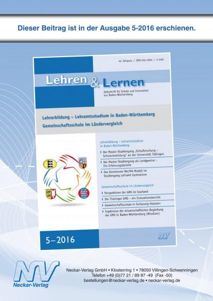 Ergebnisse der wissenschaftlichen Begleitung der Gemeinschaftsschule in Baden-Württemberg