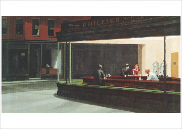 Kunstdruck Hopper - Nachtschwärmer