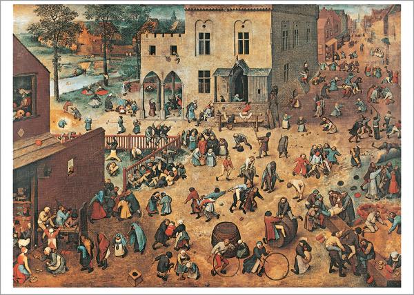 Kunstdruck Bruegel d. Ä., Kinderspiele