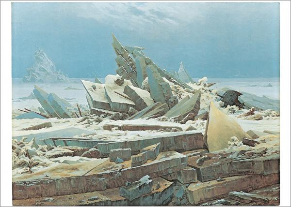 Kunstdruck Friedrich - Das Eismeer